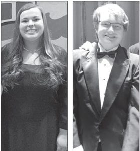 Left: Hannah Bowers, an AHS senior, sang with the Ohio Music Education Association All-State Choir in Columbus, Saturday, Feb. 10. There are about 160 student vocalists selected from hundreds of entries from across the state. It's the third year Bowers has been part of the ensemble. Right: Jeremiah Hartman, an AHS junior, performed as part of the OMEA District 1 Honor Band in a performance, Sunday, Feb. 18, at the Stranahan Theater, Toledo. Hartman played the tuba.– courtesy photos
