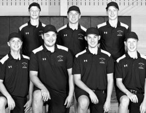 Letterwinners on the Pettisville golf team are, front row from left: Josh Horning, Graeme Jacoby, Jake King, Tommy McWatters. Back row: Max Leppelmeier, Austin Horning, Caleb Nafziger.– photo courtesy A New Image Photography